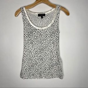 Banana Republic   Black White Spotted Luxe Tank